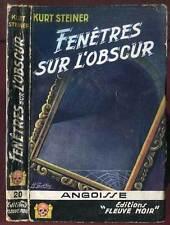 KURT STEINER: ANGOISSE N°20. FLEUVE NOIR. 1956.