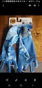 FREE SHIPPING! Buff Aqua Fishing Water Gloves- UPF 50 Sun Protection Size S