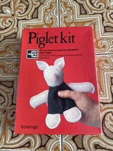 Rare Unmade John Adams Toys Vintage Piglet Kit 10cm Sewing Soft Toy Kit