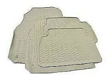 GENUINE SAAB 9-3 4&5 DOOR BEIGE RUBBER MAT SET 2003 - 2007 RHD - NEW - 12790788