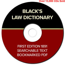 BLACKS LAW DICTIONARY-1st Edition 1891-School-Legal-History-Searchable-PDF eBook