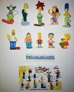 THE SIMPSONS MOVIE COMPLETE SET WITH ALL PAPERS KINDER SURPRISE 2007 FERRERO