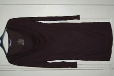 New Sz 12 Black Tunic Dress Cowl neck with undertop Long Sleeve Top
