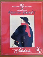 20 succès piano-chant d'Aristide Bruant, 1982