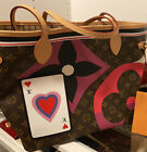 NEW Louis Vuitton Game On Monogram canvas Neverfull MM Tote Bag With Pouch