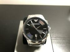 USED EMPORIO ARMANI AR2457 MEN'S STAINLESS STEEL BLACK DIAL MEN'S WATCH 15