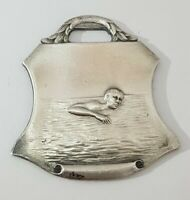 Vintage Art Deco Men's 25 Yard Back Stroke Swim Medal Watch Fob