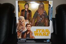 Star Wars Chewbacca and Han Solo 12in. Action Figures Disney Hasbro 2017 Nib