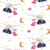 Lafee Misty The Fairy Bunny JERSEY - Cotton Fabric Children's Dressmaking Quilti