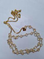 LOVE POPPY Women's Long Necklace Goldtone Chain 22 in.