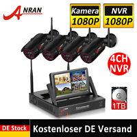 WLAN 1080P HD Überwachungskamera 8CH CCTV NVR Außen Überwachungssystem IP Kamera
