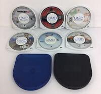 Lot of 6 PSP Games Madden 07, MX Vs ATV, Sampler Disc, PES 2008, NBA 06 & Tennis
