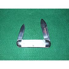 """Bulldog Pit Bulls 3 5/8"""" Baby Sunfish Knife Diamond Cut Pearl 2008 #73 1095 USA"""