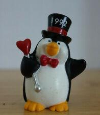 Vtg Hallmark Merry Miniatures Valentine Tuxedo Hat Penguin Heart 1992 Figurine