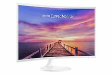 "Samsung 32"" LED FHD Curved Monitor CF391 Series HDMI, DP - High Glossy White NEW"