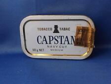 CAPSTAN NAVY CUT MEDIUM TOBACCO TIN METAL 50 G NET MADE IN ENGLAND FOR IMPERIAL