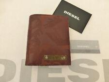 Cartera de monedas Diesel 03795 juppyter FOLLETO Marrón Plegable Camo Billeteras BNWT RRP £ 65