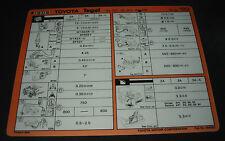 Inspektionsblatt Toyota Tercel Typ AL 20 / AL 21 / AL 25 Werkstatt Service 1983!