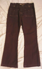 Womens GUESS JEANS 32 x 32 Bell Bottom Flare Cotton Pants Doughnut Button fly