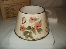 New Tag Box - Free Shipping - Home Interiors Multi Color Candle Shade Butterfly