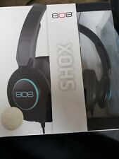 Audiovox, Black, 808 Shox Headphones