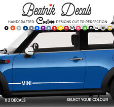 Mini Rayas Laterales Adhesivos Calcomanías elegante Vinilo de gráficos de la calidad del OEM BMW uno