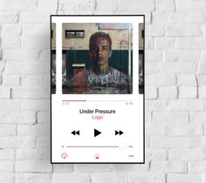 Logic - Under Pressure Music Player Album Cover Poster Art Print Giclée