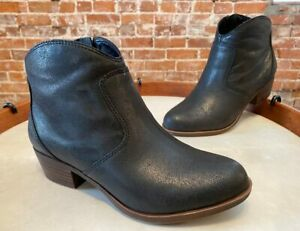 Lucky Brand Black Leather Belia Ankle Boot Bootie 9.5 New