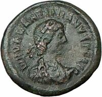 VALENTINIAN II 378AD Authentic Ancient Roman Coin WREATH i18377