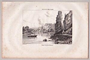 Belgique, Belgium, Lüttich, Namur, Dinant u.a. - Konvolut 4 Kupferstiche 1835