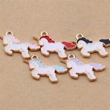 10pc Enamel Horse Unicorn Pendant Charm Earring Bracelet Jewellery Making 1107#