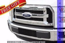 GTG 2015 - 2017 Ford F150 6PC Gloss Black Overlay Combo Billet Grille Grill Kit