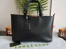 Longchamp Le Foulonné City Shopping Bag M Black/Blue