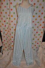 SEXY 2 pc PETRA CLOUD BLUE CAMI & LOUNGE PANTS nighty Women`s / JR M  USA EUC