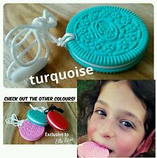 Silicone Necklace Biscuit ASD Autistic Child Chew Sensory BPA Free Adjustable.