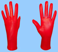 NEW WOMENS size 9 or 3XL GENUINE RED LAMBSKIN LEATHER SILK LINED DRESS GLOVES