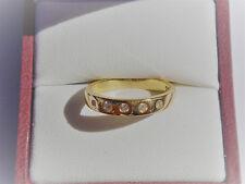 Stunning, Solid 18K Yellow Gold, Genuine Diamond Ring. Valuation $1350.00