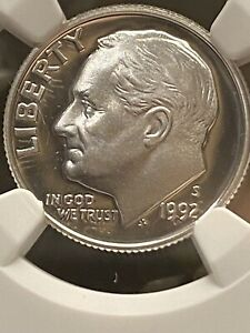 1992 S SILVER ROOSEVELT DIME NGC PF69 ULTRA CAMEO