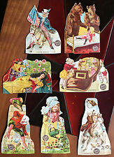 Lion Coffee last 10 of 30 Children's paper Dolls With Stories Woolson Spice