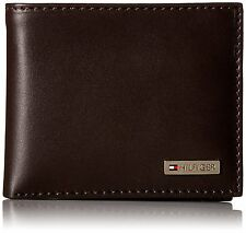 Tommy Hilfiger Leather Mens Multi-Card Passcase Bifold Wallet with Removable Ca