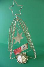 NATALE titolare della carta-Altezza 50 cm-Colore Oro con dettaglio stella