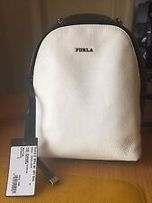 NEW FURLA Spy mini backpack Black White