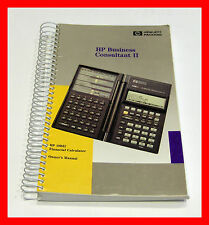 HP 19B II 19BII HP Business Consultant II Calculator Owner's Manual Only