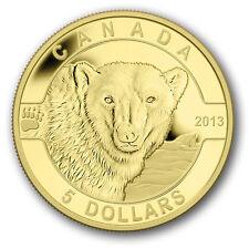 1/10 oz Pure Gold Coin - The Polar Bear - Mintage: 4000 (2013)   5 Dollars