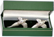 Pheasant Cufflinks Shooting Gift for shooting shirt or suit GIFT BOXED NEW UK