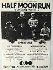 HALF MOON RUN 2014 Australian Tour Poster A2 Dark Eyes Full Circle TIGERTOWN NEW