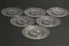 """Beautiful Set 6X Hobnail Glass 9.3"""" Dinner Plates Tulip Scroll Heritage Federal"""