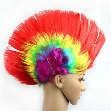 Unisex Mohawk Hair Wig Mohican Punk Rock Fancy Dress Cosplay Party Costume Hippy