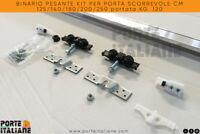 BINARIO PESANTE KIT PER PORTA SCORREVOLE CM 125/140/180/200/250 portata KG. 120