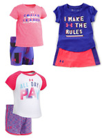 New Under Armour Baby Girls 2 Piece Shirt and Short Set Size 18 M MSRP $33.00